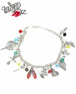 Wizard of Oz Charm Bracelet Classic Movie Novelty Jewelry