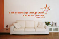 I Can do all Things Through Christ who Strengthens me - Wall Decal Stickers