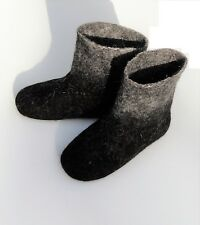 Felted Wool Natural Winter Shoes Men House Booties Slippers Organic 11 US/ 43 EU