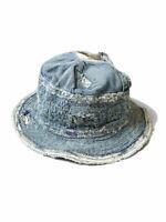 Kapital Hat The Old Man and the Sea 12oz Indigo Denim Crash Remake 100% cotton
