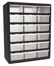 HOMAK HA01018001 18-Drawer Plastic Parts Organizer