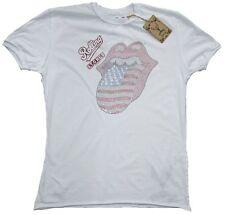 RARE Amplified Official Rolling Stones Stati Uniti lingua Strass Rock VIP t-shirt G.S