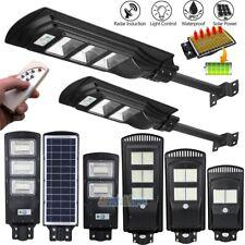 60/90/250W LED Solar Street Wall Light Radar Induction PIR Outdoor Lamp + Remote