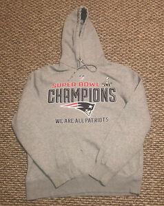 New England Patriots Nike Hoodie Sweatshirt Men's Large Superbowl Champions