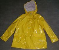JACADI 12 ans manteau ciré imperméable jaune fille TRES BON ETAT