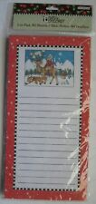 Mary Engelbreit Christmas List Note Pad 80 Sheets Magnetic Girl Reindeer Fox New