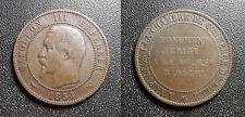 Napoléon III - module 10 centimes, Chambre de Commerce Lille,monument Bouse 1854