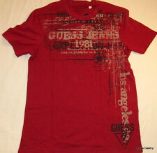GUESS Jeans Graphic Logo Cotton Tank T-shirt Tee T shirt Top Blouse NWT S