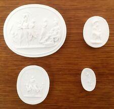 4 Grand Tour Cameo intaglio Medallion plaster intaglios