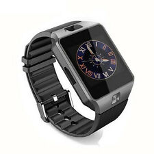 DZ09 Bluetooth Smart Watch Phone Mate Sports GSM/SIM For iPhone Android Black #U