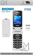Telefono Cellulare FOX Brondi apertura a conchiglia Dual Sim Display Colori GSM
