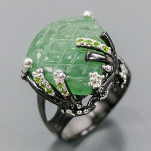 Handmade Set Jewelry Aventurine Ring Silver 925 Sterling  Size 9 /R159329