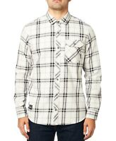 Fox Racing Mens Shirt Gray Small S Button Down Voyd 2.0 Plaid Flannel $59- 326