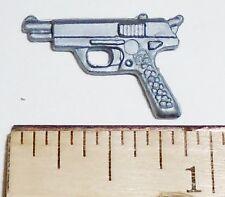 BIN A42  G I JOE Accessory    Silver  9mm Pistol Gun