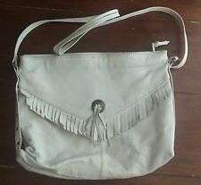 Vintage White Leather Fringe Purse 1980's North Point Leathers Co