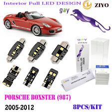 8Pcs LED Interior Light Kit Cool White 6000K Fit 2005-2012 Porsche Boxster (987)