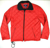 Vtg Polo Sport Ralph Lauren Quilted Puffer Jacket Insulated Fleece Lined Red M