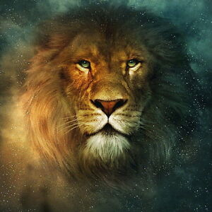 Lion Oil Painting Picture Printed On Canvas Home Sitting Room Wall Art Decor