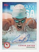 2016 Topps USA Olympic Team Autograph #24 Conor Dwyer Swimming Gold Medalist