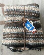 Kidka Iceland 100% Icelandic Wool Throw Brown and Blue – New