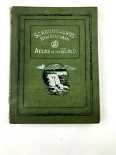 SCARBOROUGH'S New Standard ATLAS of the WORLD 1910  Fold out Indiana