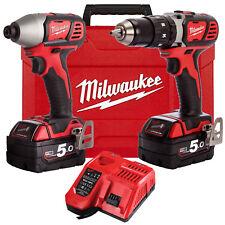 Milwaukee 18V Cordless Impact Driver Drill Battery 5.0Ah Combo Kit - Au Stock