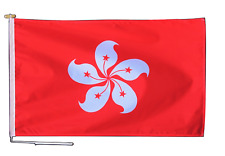 More details for hong kong region china flag with rope and toggle - various sizes