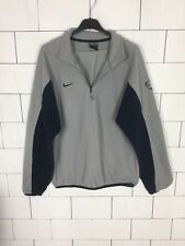 NIKE VINTAGE FLEECE 1/4 ZIP RETRO SWEATSHIRT SWEATER OVERHEAD GREY MENS MEDIUM