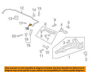 HONDA OEM Stabilizer Sway Bar-Rear-Bushings 52316SA5000