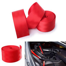 360CM Red Racing Auto Car Front Retractable 3 Bolt Point Safety Seat Lap Belt