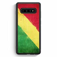 Republic Kongo Grunge Congo Samsung Galaxy S10 Silikon Hülle Motiv Design Cov...