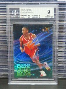 1996-97 E-X2000 Allen Iverson Rookie Card RC Star Date 2000 #7 76ers BGS 9 R232