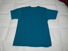 Fruit of the Loom Plain Blank Mens Mans L Cotton Tee Shirt Tshirt T-Shirt Blue