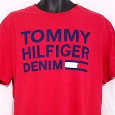 Tommy Hilfiger vaqueros camiseta hombre HECHIZO pierdas BANDERA RETRO