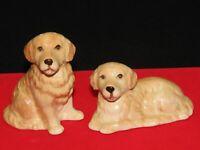 Vintage Tan Brown Labrador Puppy Dog  Salt and Pepper Shaker Set  Made in Japan