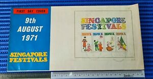 1971 Singapore Festivals Commemorative Stamp Miniature Sheet Extra Large Cover