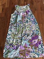 Ebru Floral Maternity Summer Dress Size S Sleevles Cotton/viscose