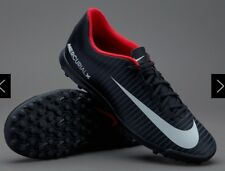 Nike Mens Mercurial Vortex III TF Black/ White Lace Up Football Boots Uk 10