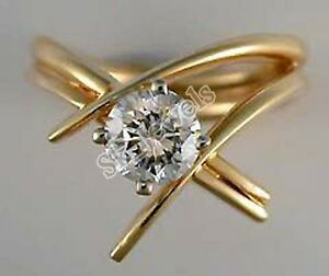 0.41ct SOLITAIRE 14k YELLOW GOLD ENGAGEMENT WEDDING ANNIVERSARY RING