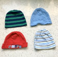 Lot Of 4 Baby Boy Infant 0-6 Month Hats, Beanies, Caps Gerber