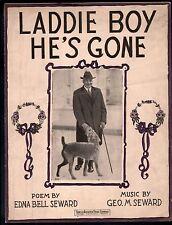 Laddie Boy He's Gone  Sheet Music