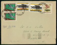 Mayfairstamps Belgian Congo Commercial 1960s Cover Kolwez With Wildlife Stamps w