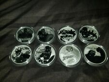 Tuvalu Marvel .999 Fine Silver 8 Piece Coin Complete Set