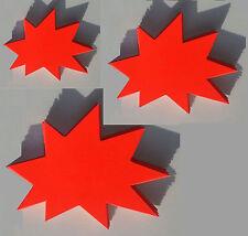 60 Sterne 3 Größen Preisschild Karton Neon Werbung Schaufenster Räumungsverkauf