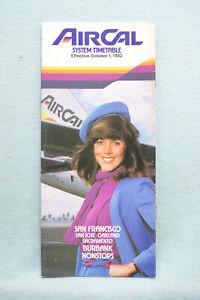AirCal Timetable - Oct 1, 1982