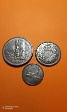 3 coins  1958 $1 - 50cents -25cents Canada dollar  80% Silver Coin - nice set