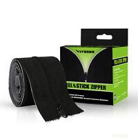 VIVOSUN 2 Packs 7ft Heavy Duty Peel & Stick Zipper Replacement Zip for Grow Tent