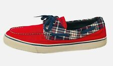 Sperry Top Sider Womens Boat Shoes Size 10M US Canvas Red / Plaid Casual Shoes
