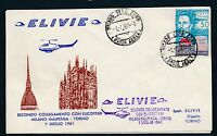 88254) Helikopterpost Italien SF Milano - Torino 1.7.61, sp cover