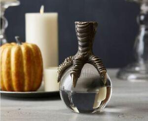 Pottery Barn Ball and Claw Heavy Glass Ball ~ Halloween
